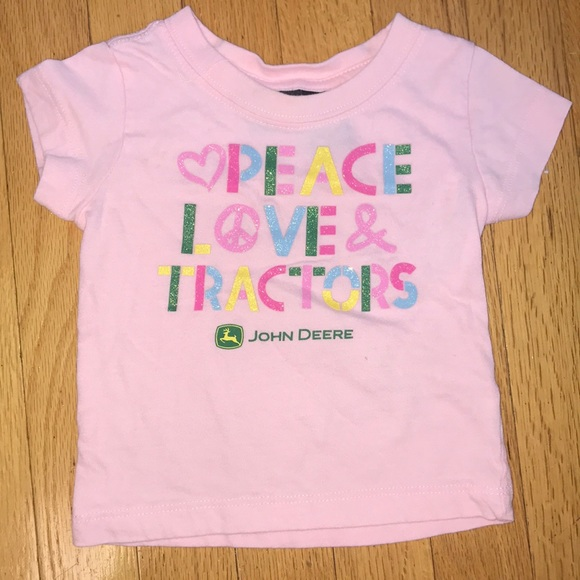 John Deere Other - John Deere Peace Love Tractors Glitter 12 Months